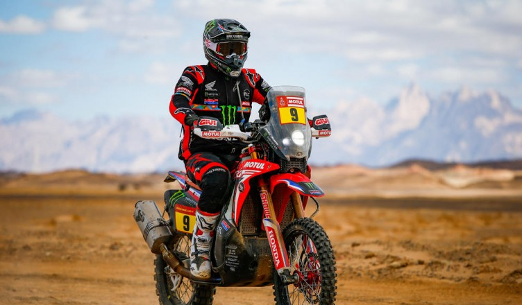 09 Brabec Ricky (usa), Honda, Monster Energy Honda Team 2020, Moto, Bike, Motul, action during Stage 2 of the Dakar 2020 between Al Wajh and Neom, 401 km - SS 367km, in Saudi Arabia, on January 6, 2020 - Photo Julien Delfosse / DPPI
